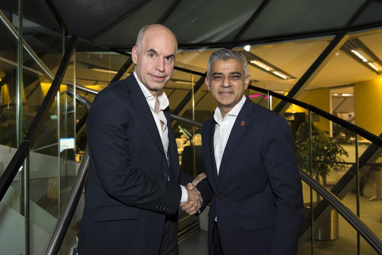Rodríguez Larreta y el alcalde de Londres Sadiq Khan
