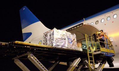 Primera exportación de cerezas a China por avión .