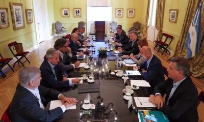 El Presidente Macri encabezó una reunión de Gabinete en Casa Rosada.