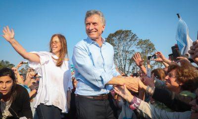 Mauricio Macri y María Eugenia Vidal en Junín.
