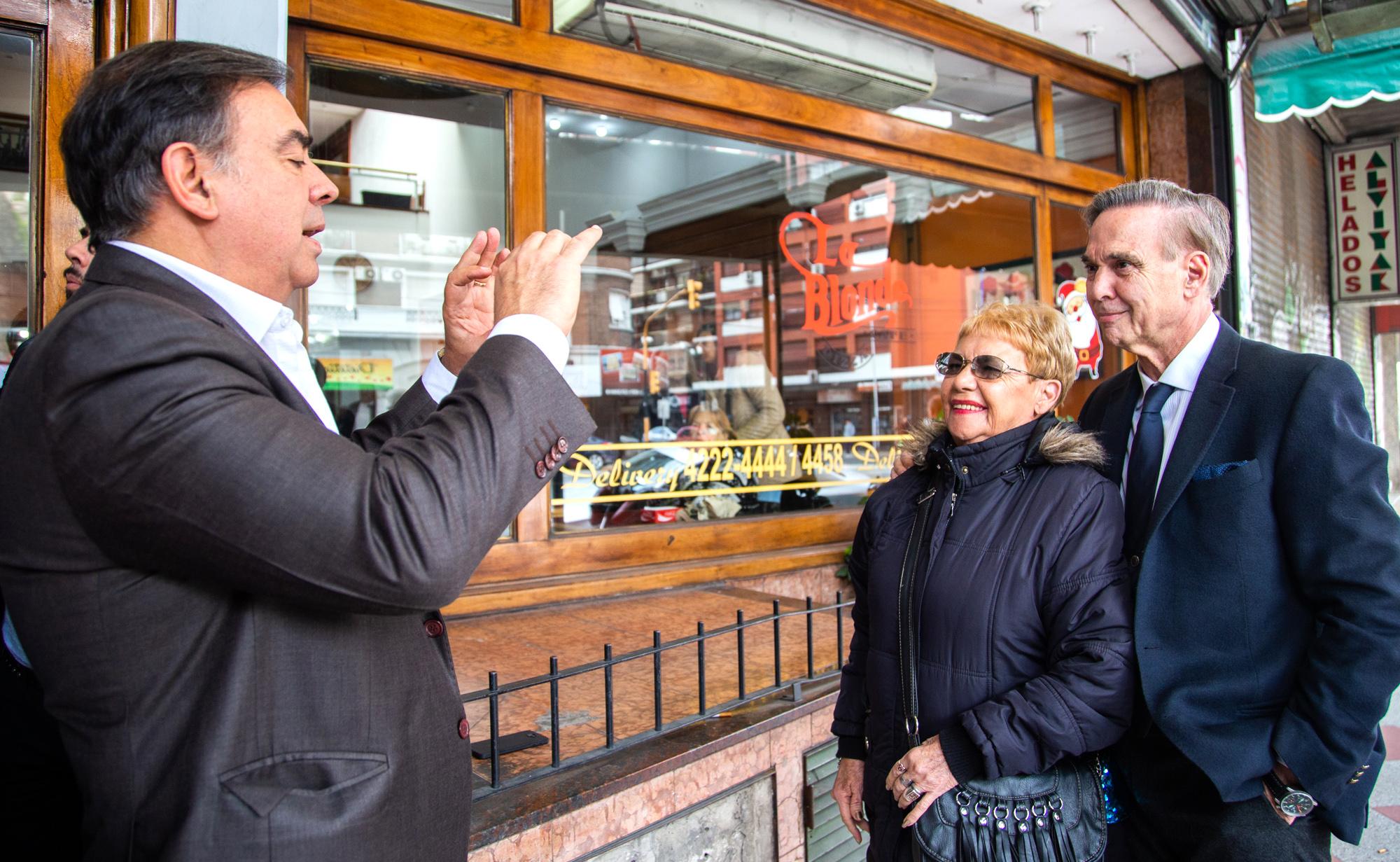 Pichetto, en Avellaneda con Luis Otero.