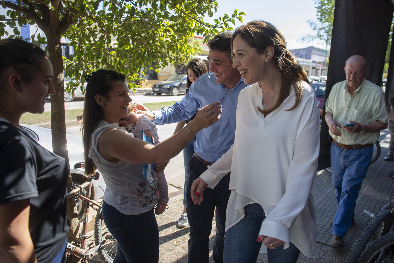 María Eugenia Vidal visitó el municipio de Capitán Sarmiento.