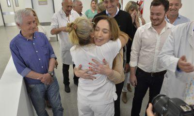 Vidal recorrió la nueva guardia del hospital Ricardo Gutiérrez en La Plata que se inaugura hoy.