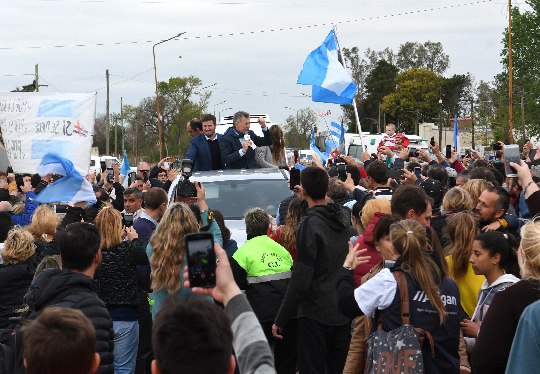 Macri, en la Marcha del Sí Se Puede, en Rafaela, Santa Fe.
