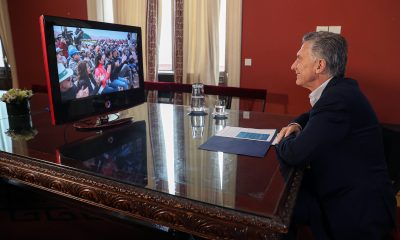 El Presidente Macri participó por videoconferencia de la inauguración del Parque Solar Cauchari, en Jujuy.