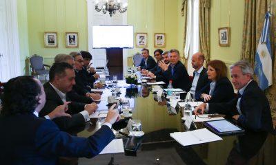 El Presidente Macri encabezó esta mañana una reunión de Gabinete en la Casa de Gobierno.