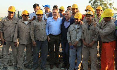 El Presidente Macri recorrió obras hídricas en la provincia de Tucumán.