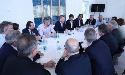 El Presidente Macri encabezó en Olivos una reunión de Gabinete.