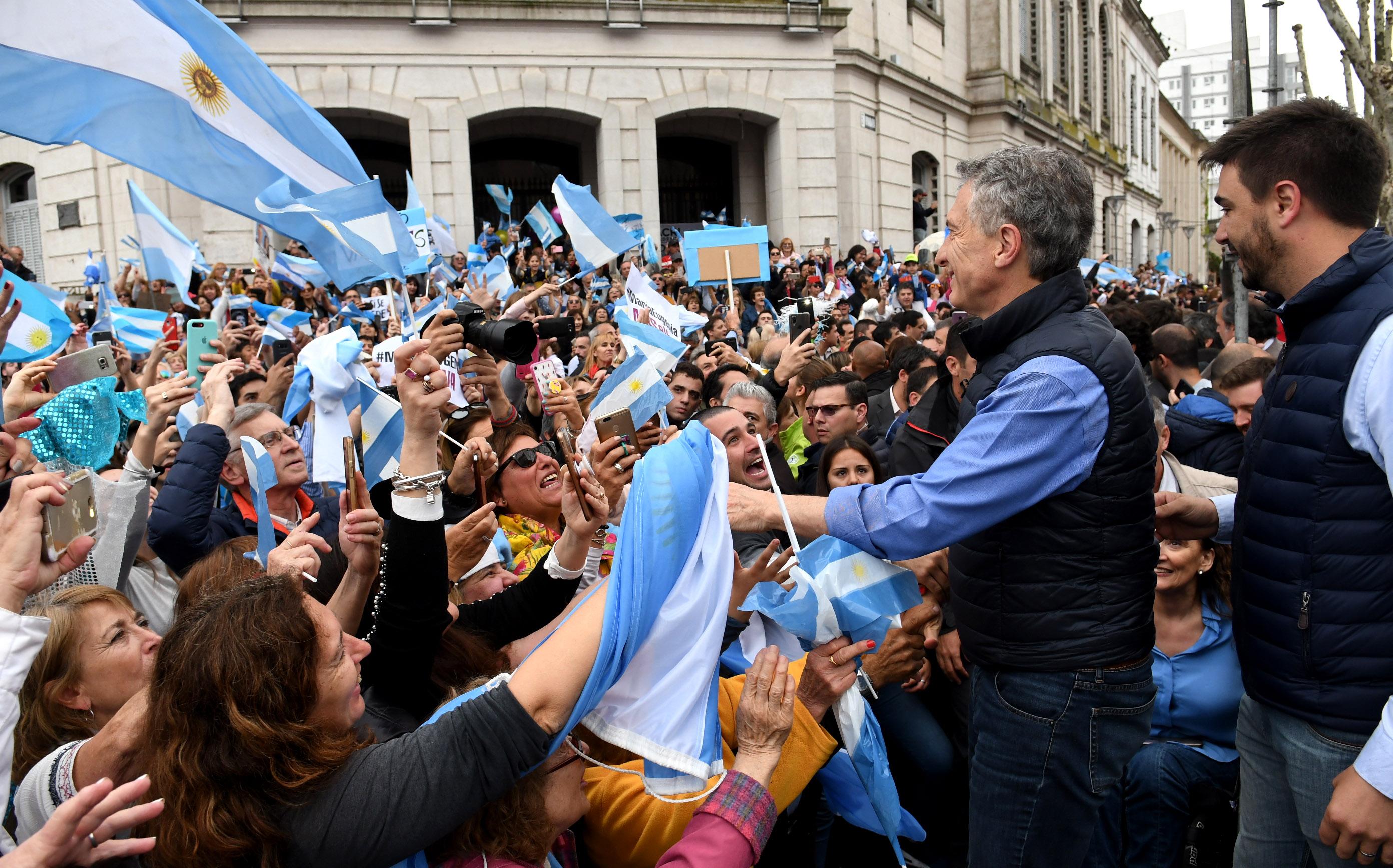 El Presidente Macri en Olavarría.