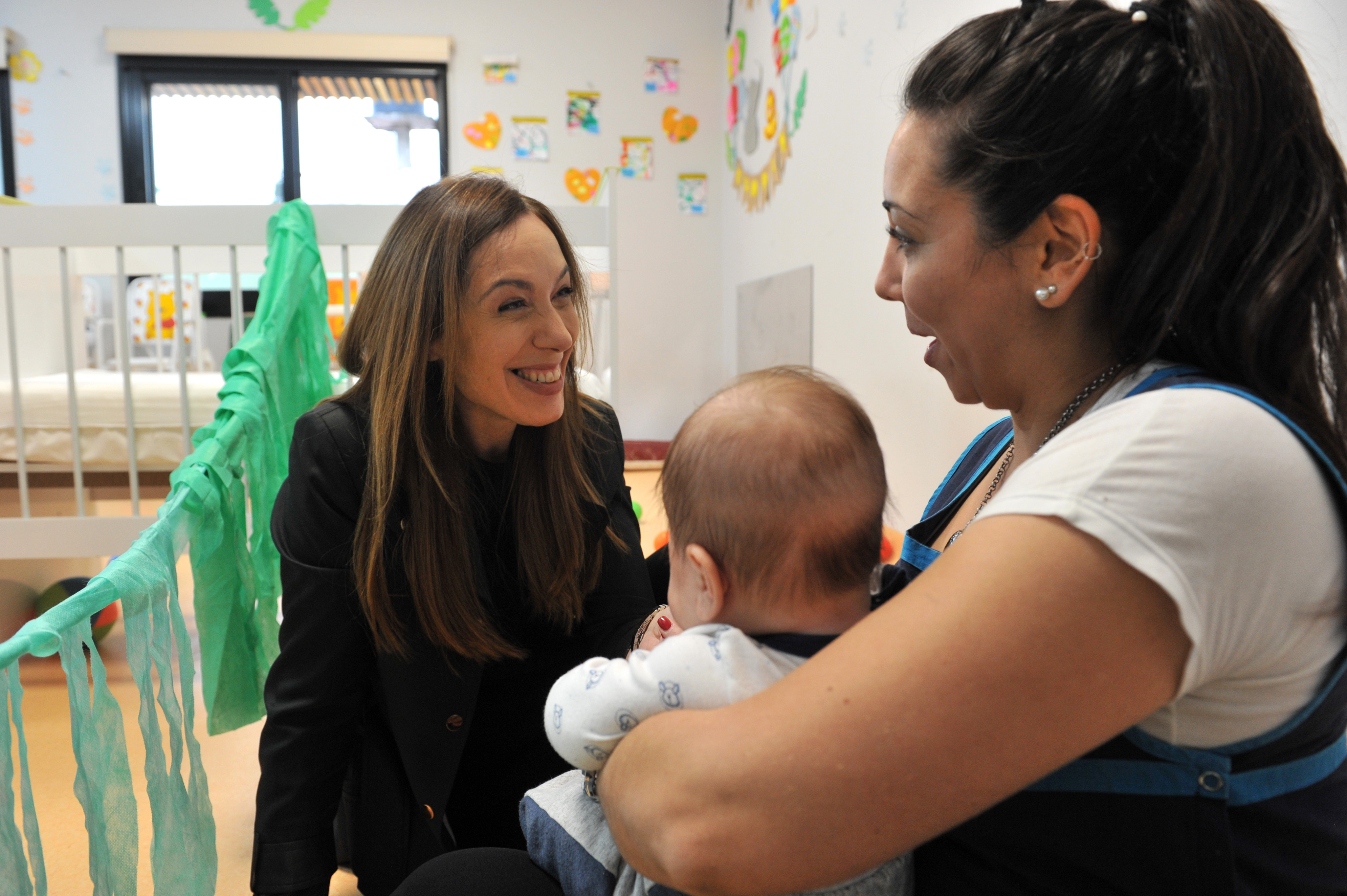 Vidal visitó un Centro de Desarrollo Infanto Familiar en el Partido de San Miguel.