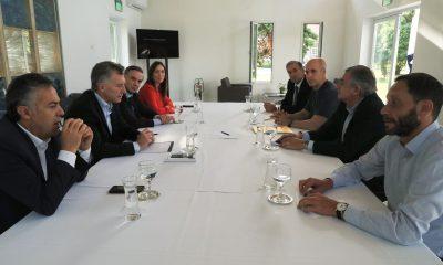 El presidente Macri se reunió con gobernadores y legisladores en Olivos.