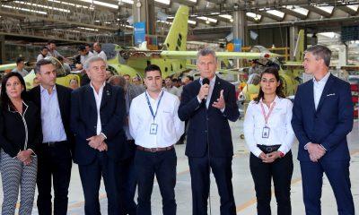 El Presidente Mauricio Macri recorrió la Fábrica Argentina de Aviones (FAdeA).