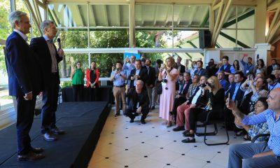 El Presidente Macri saludó a los intendentes que participaron del 3° Encuentro Anual de Municipios País Digital.