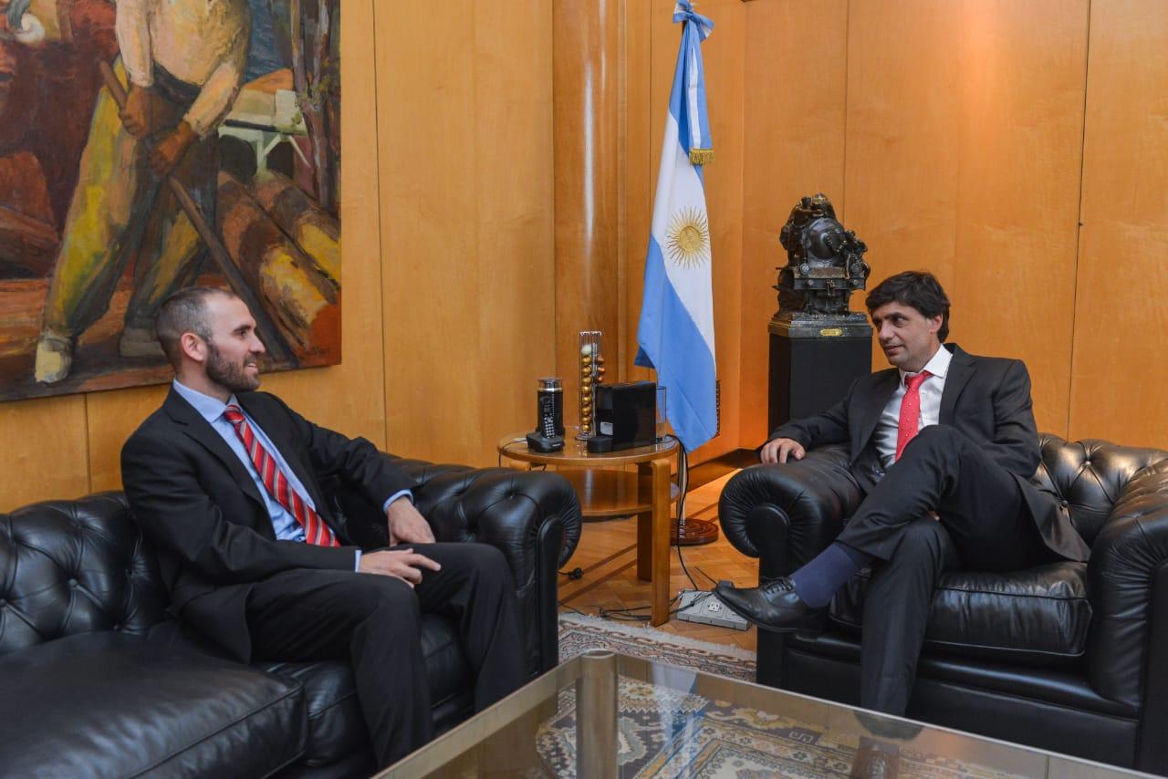 Guzmán y Lacunza se reunieron en el Palacio de Hacienda.
