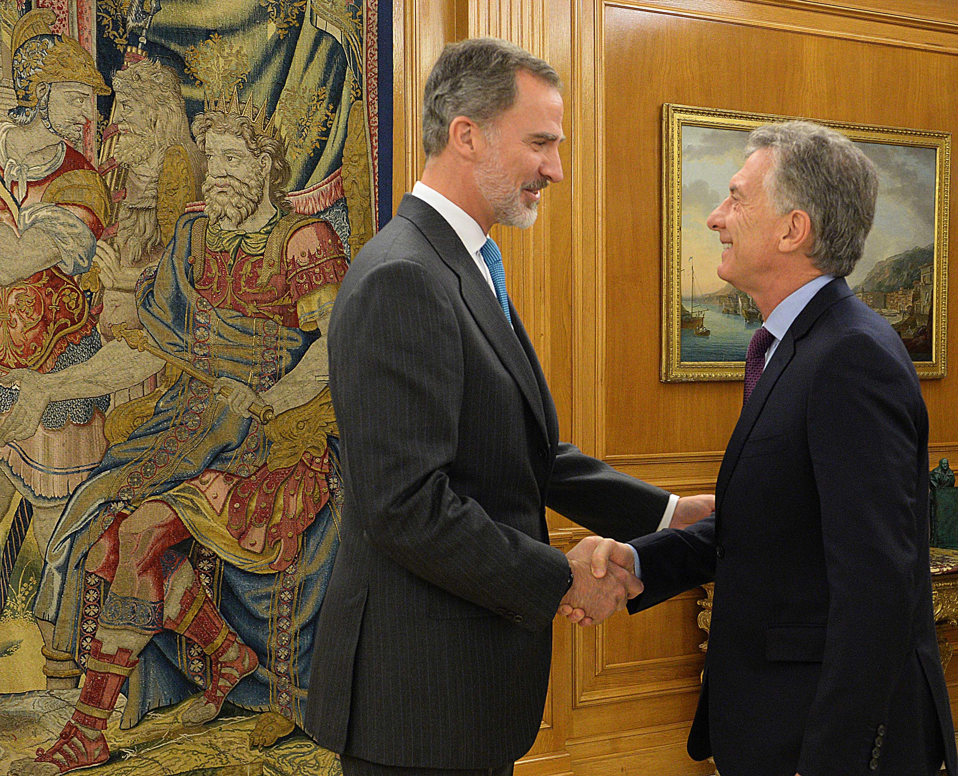 El Presidente Macri fue recibido por el rey Felipe VI de España, en el Palacio de la Zarzuela, Madrid.
