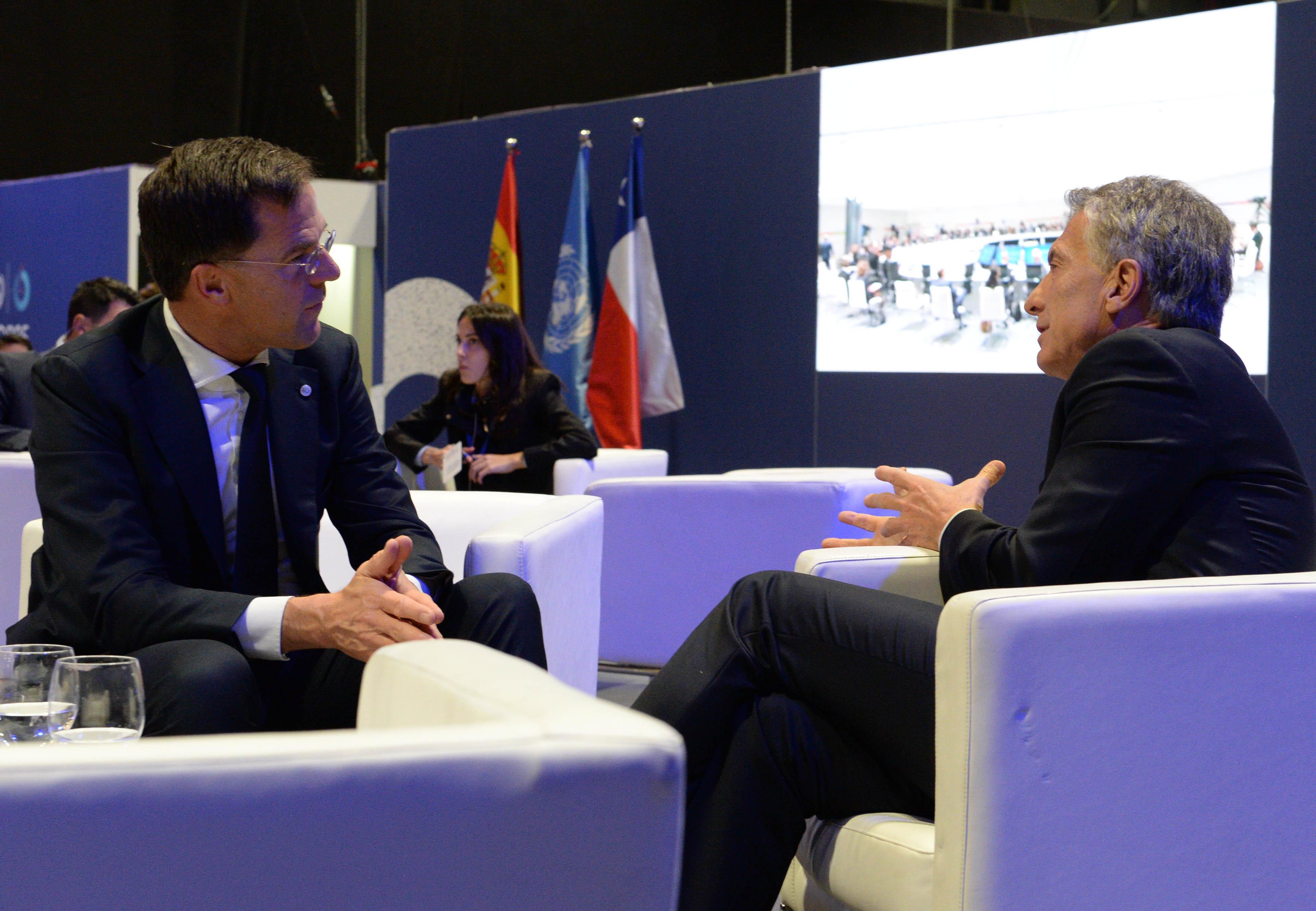 El Presidente Macri mantuvo un encuentro bilateral con el primer ministro de los Países Bajos, Mark Rutte.