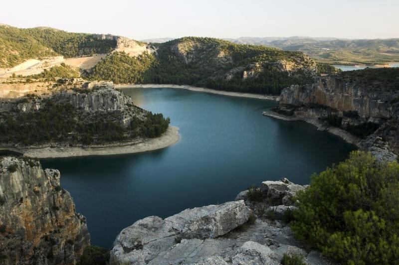 Localidad de Castellote, Teruel, Aragón, España.