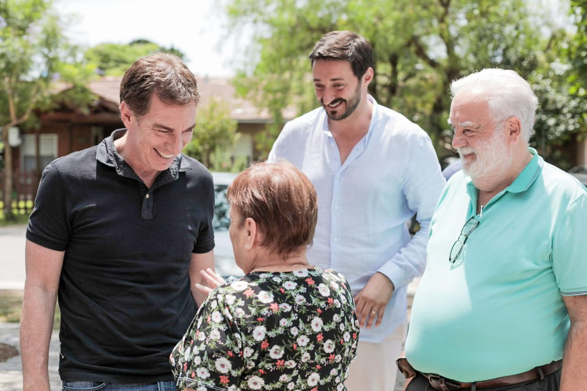 Diego Santilli visitó Pinamar.