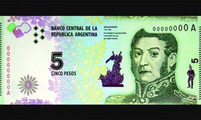 billetes de 5 pesos