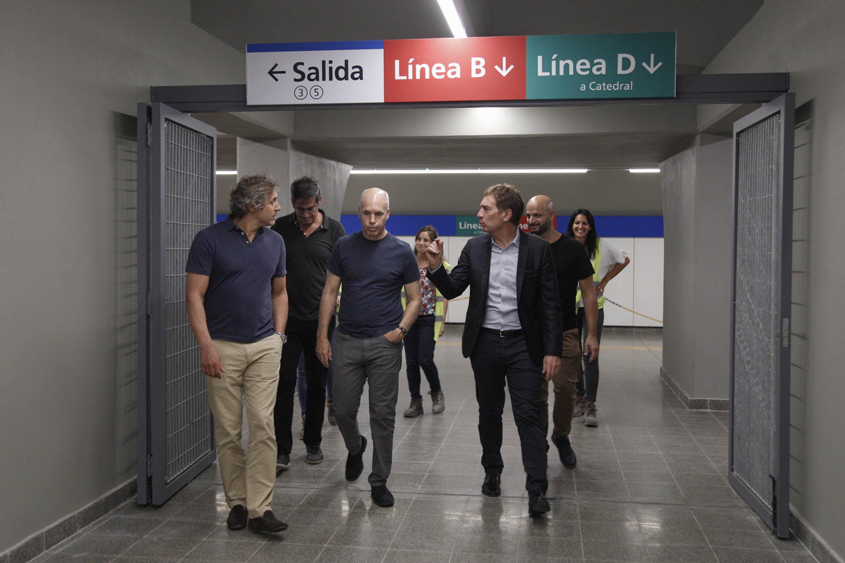 Horacio Rodríguez Larreta inauguró un nuevo acceso a la red de subte.