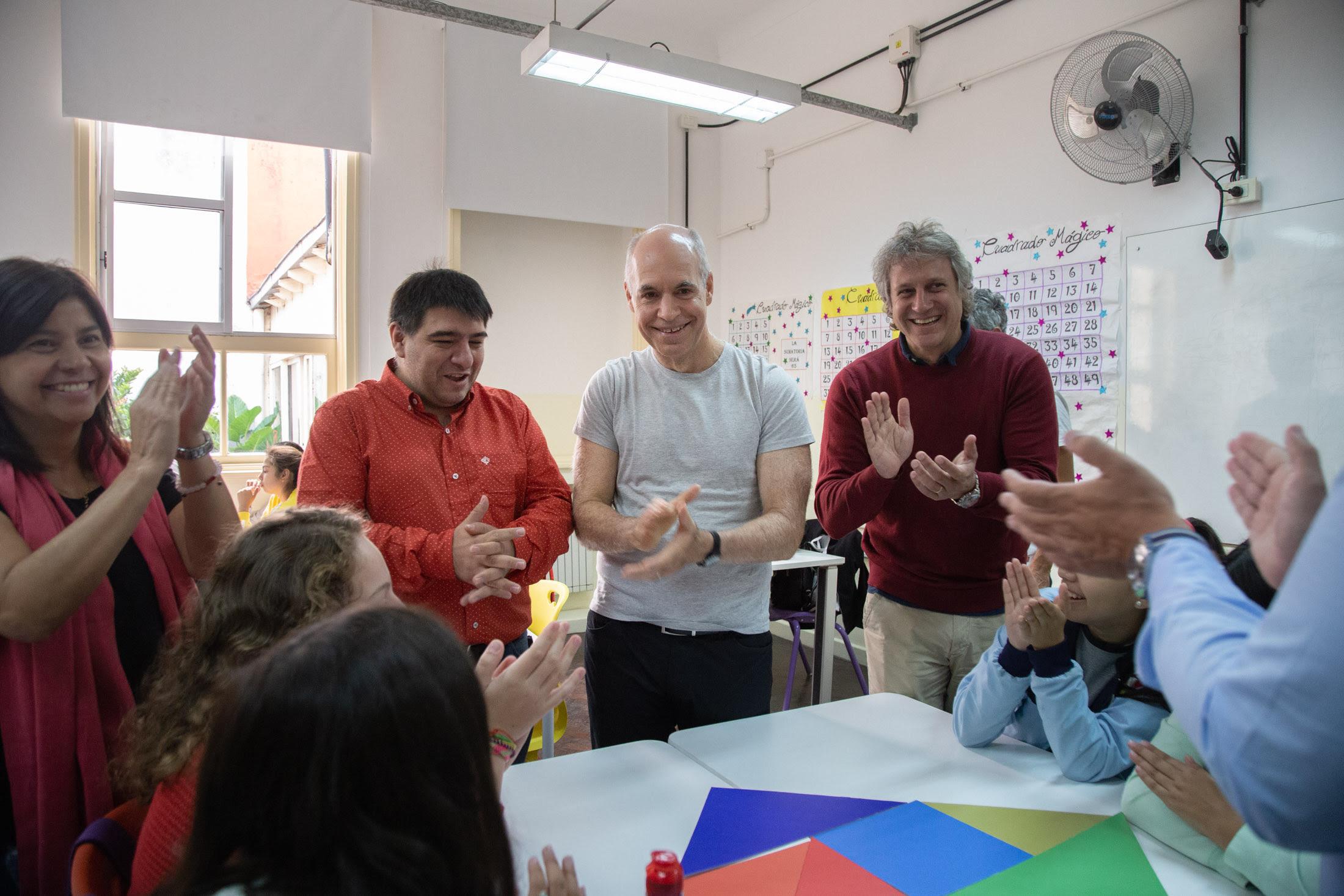 Horacio Rodríguez Larreta participó de una jornada de articulación Primaria y Secundaria.
