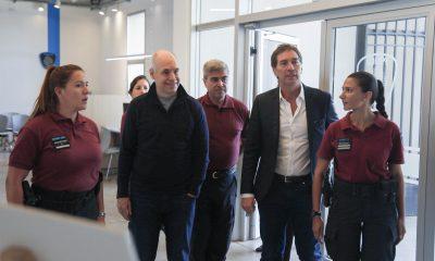 Horacio Rodríguez Larreta y Diego Santilli inauguraron el nuevo edificio de la Comisaría Comunal 1.
