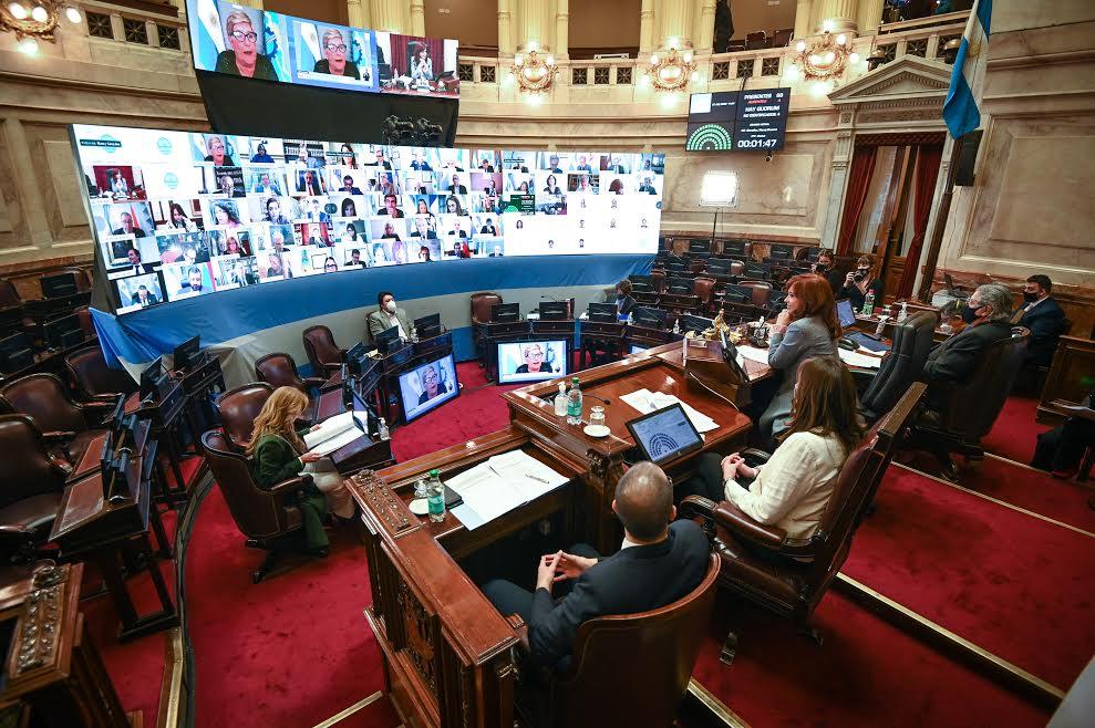 Sesión extraordinaria del Honorable Senado de la Nación en la que se da tratamiento al proyecto de ley de Organizacion y Competencia de la Justicia Federal, el 27 de Agosto de 2020, en Buenos Aires, Argentina. Foto: Charly Diaz Azcue / COMUNICACION SENADO.
